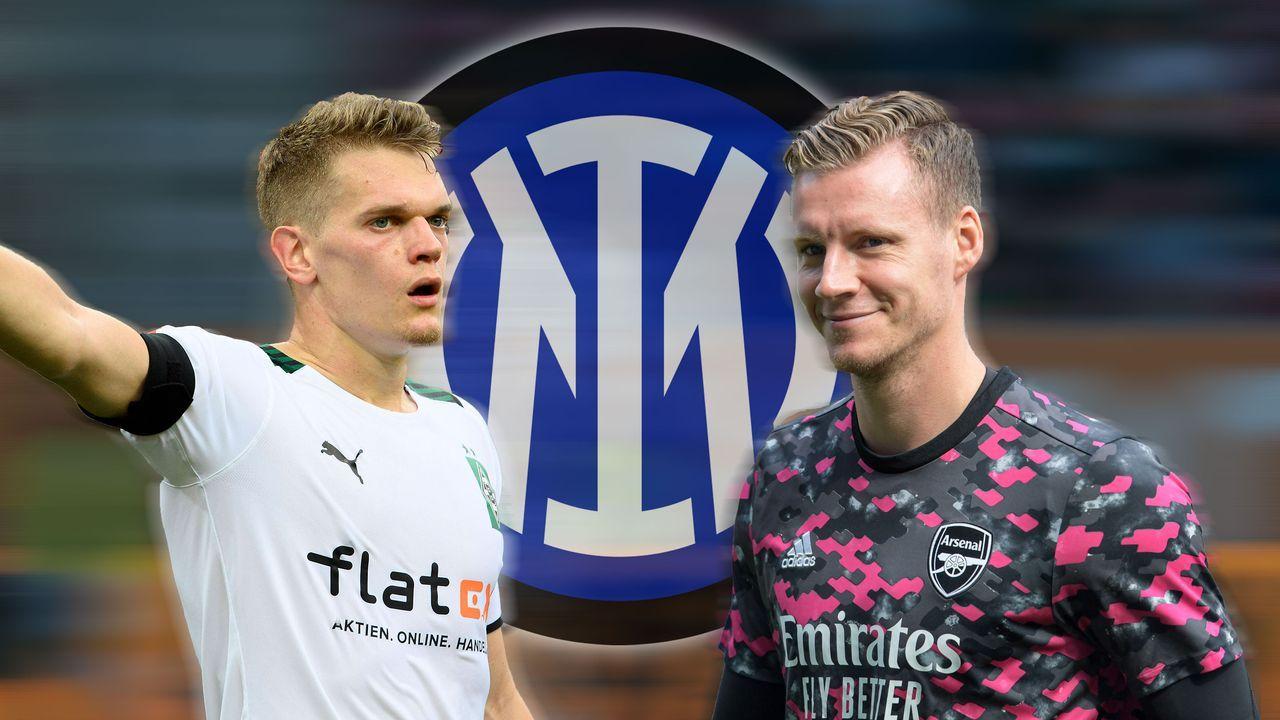 Bernd Leno (FC Arsenal) und Matthias Ginter (Borussia Mönchengladbach) - Bildquelle: Imago Images