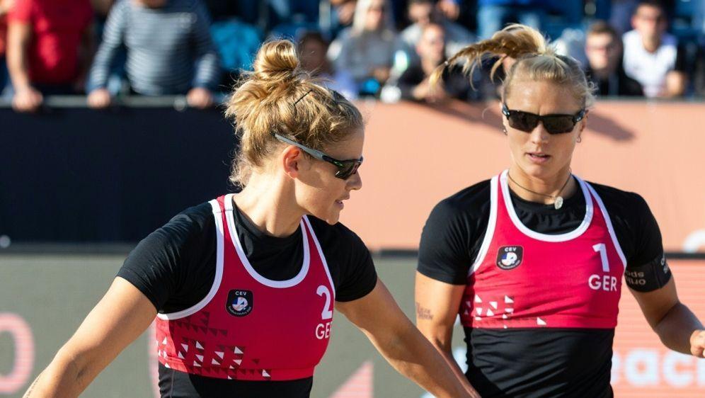 Cinja Tillmann (l.) und Kim Behrens holen Silber - Bildquelle: CEVCEVCEVMorozov Vadim