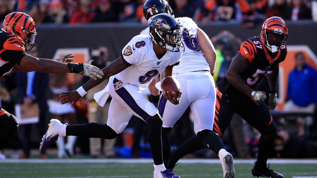 Quarterback: Lamar Jackson - Bildquelle: 2019 Getty Images