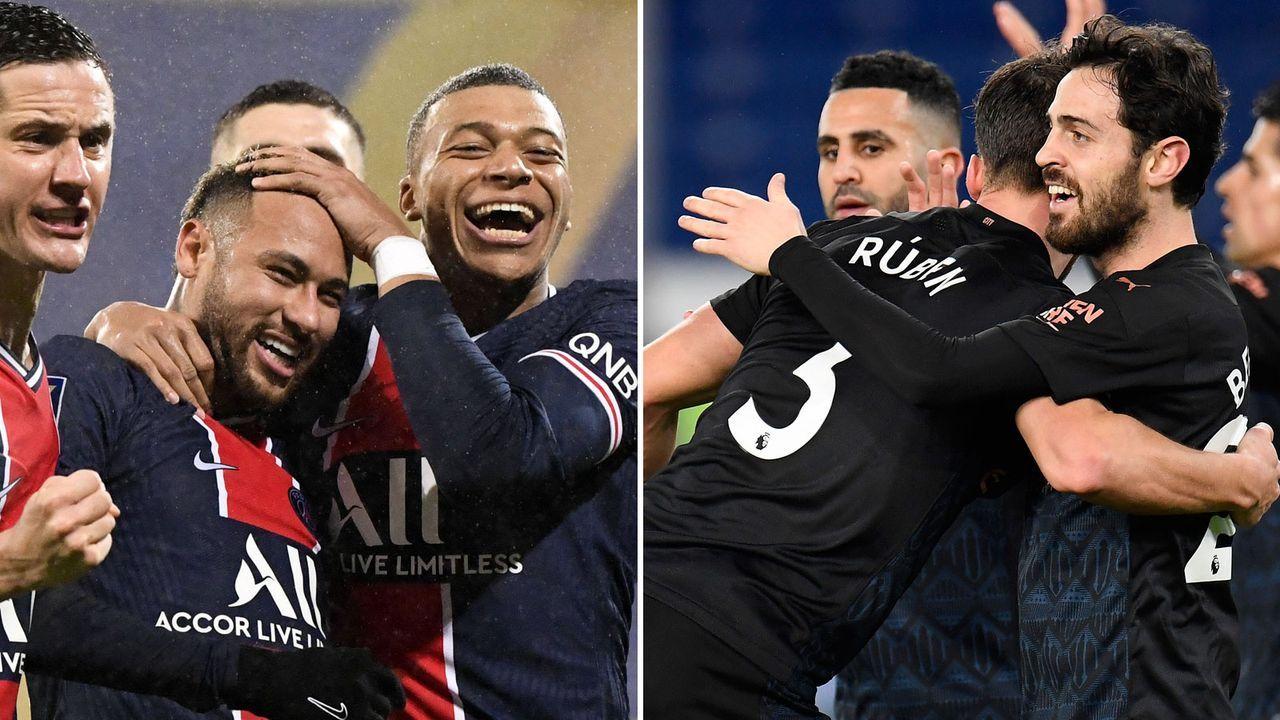 Paris St. Germain und Manchester City im Head-to-Head-Vergleich - Bildquelle: imago, Getty Images