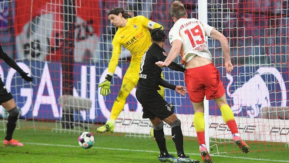 Joker AlexanderSörloth köpfte Leipzig in der Nachspielzeit zum Sieg. - Bildquelle: Imago