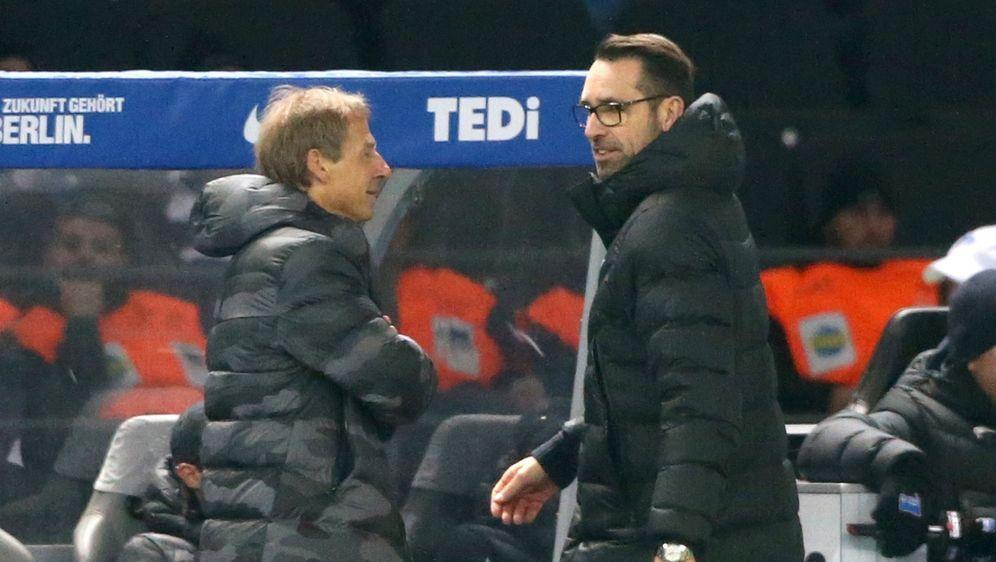 Michael Preetz (r.) spricht über den Abschied von Jürgen Klinsmann bei Herth... - Bildquelle: imago images/Nordphoto