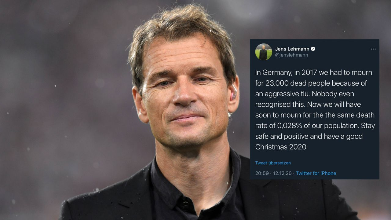 Lehmann äußert sich zur Corona-Pandemie - Bildquelle: Imago Images / Twitter: Jens Lehmann
