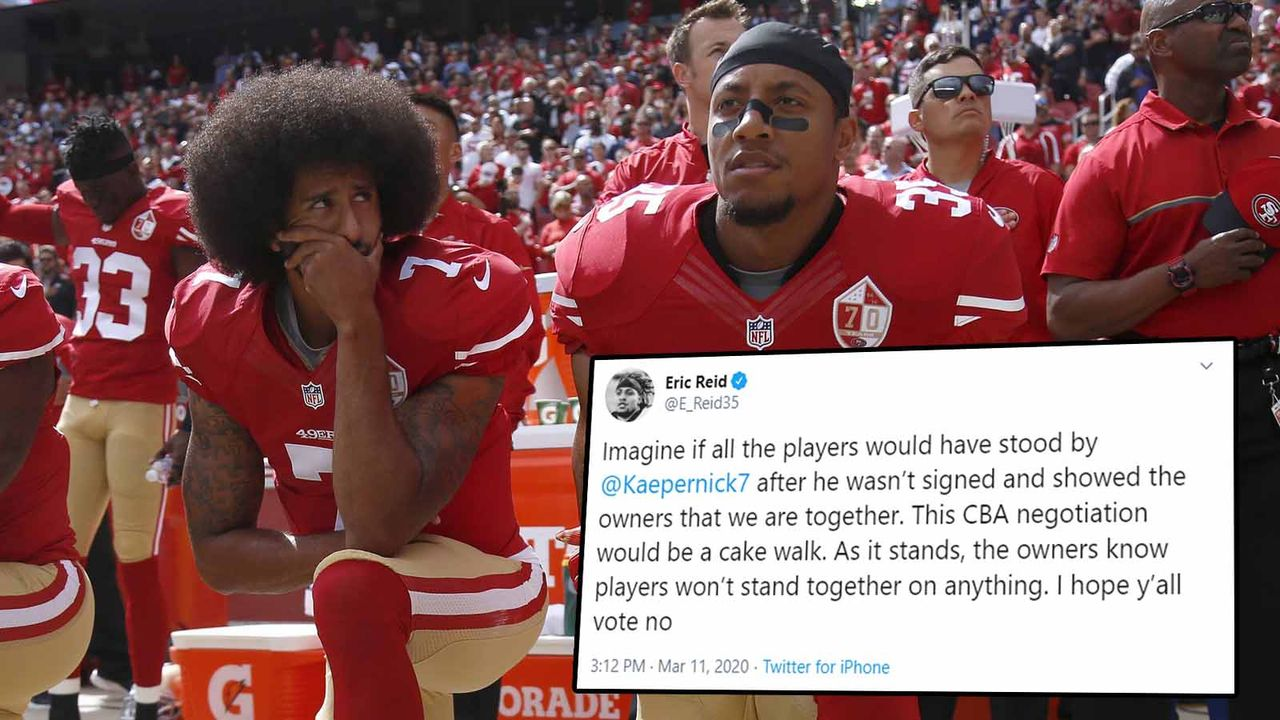 Eric Reid kritisiert gesamte NFL-Spielerschaft - Bildquelle: imago ; twitter/E_Reid35