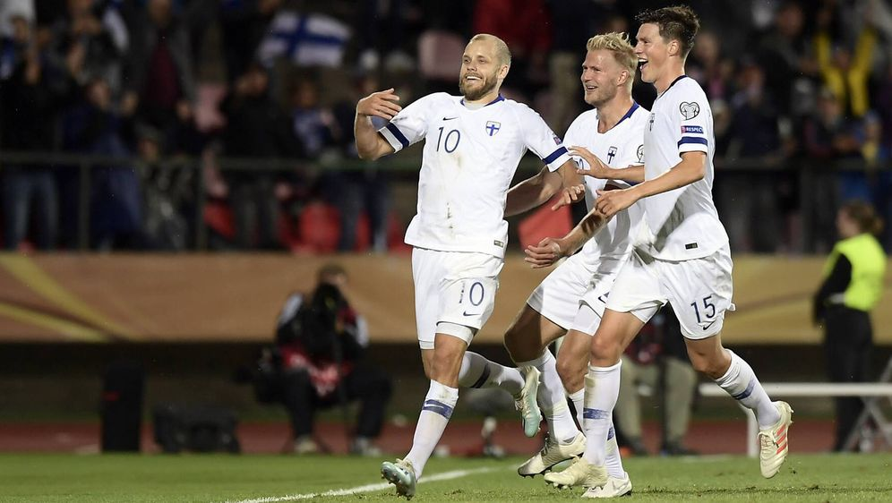Finnlands Nationalspieler können heute Abend Sportgeschichte schreiben - Bildquelle: imago images / LaPresse