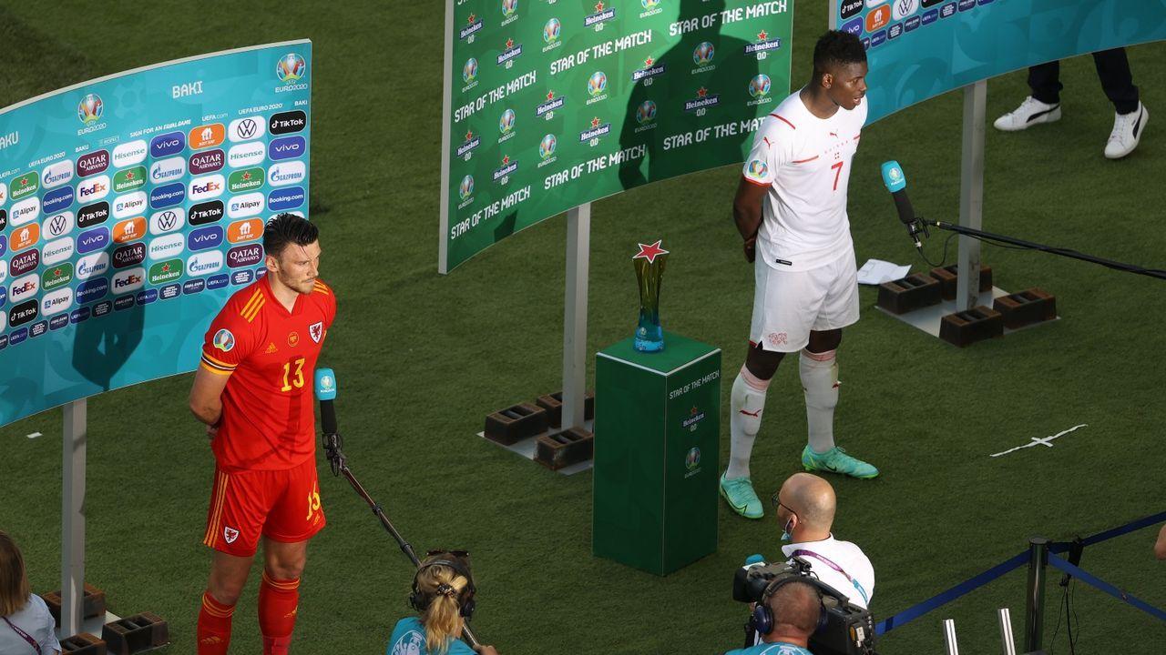 Schweiz vs. Wales endet mit einem Remis - Bildquelle: Getty