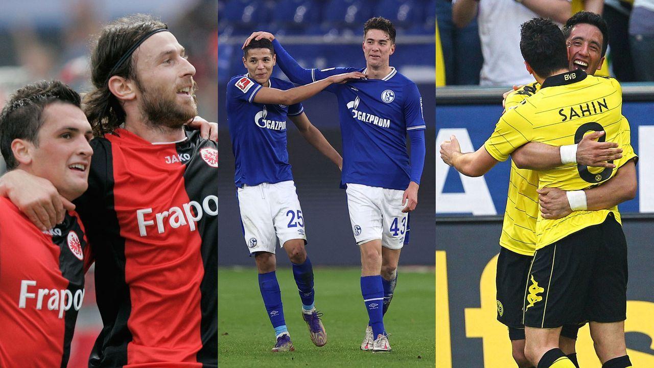 """Die """"doppelten Dreierpacker"""" der Bundesliga - Bildquelle: Getty Images und Imago Images (2)"""