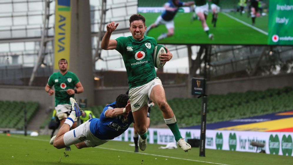 Feiert ein beeindruckendes Debüt für Irland: Hugo Keenan - Bildquelle: 2020 Getty Images
