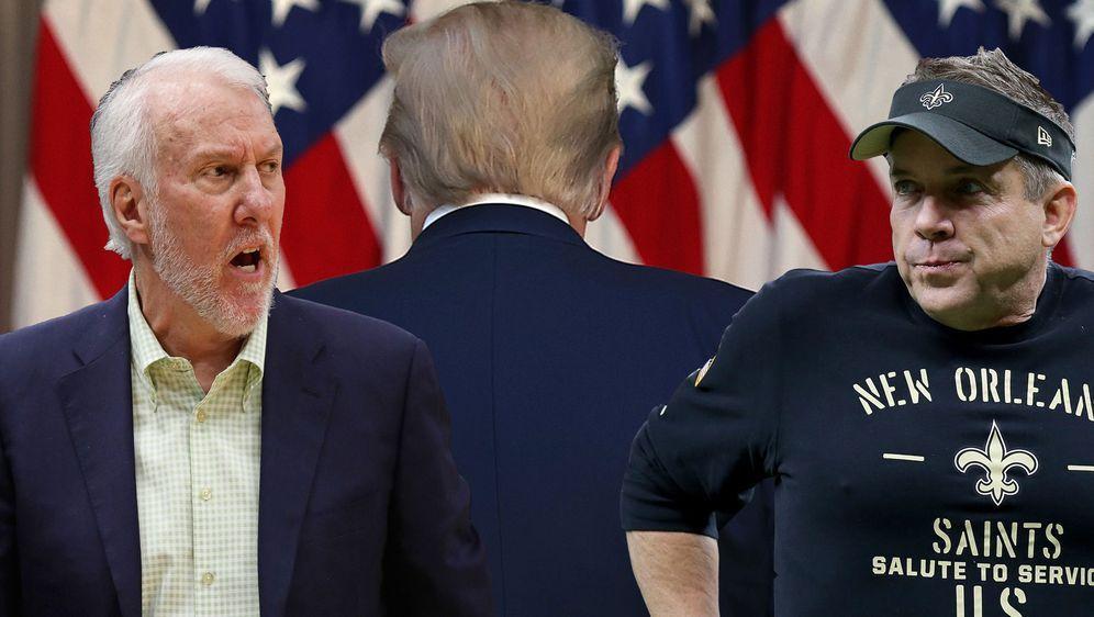 Fiebern dem Abgang von Donald Trump entgegen: Gregg Popovich (l.) von den Sp... - Bildquelle: Getty Images