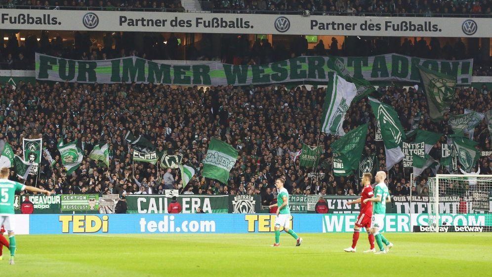 Die Fans des SV Werder wollen keine Umbenennung - Bildquelle: FIROFIROSID