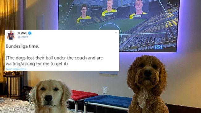 Unterstützung aus der NFL: J.J. Watt freut sich über den Bundesliga-Start - Bildquelle: twitter: @JJWatt