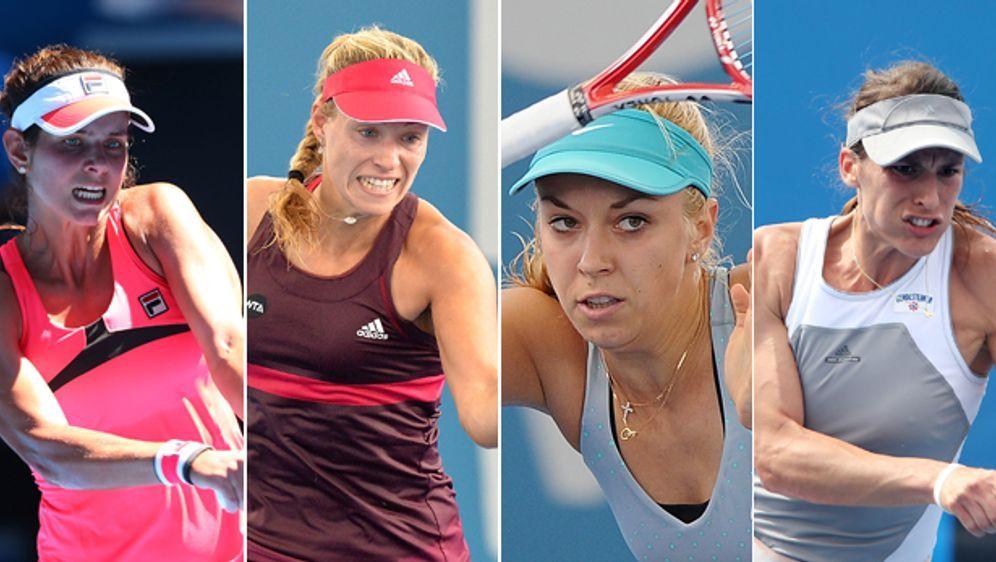 Sie sollen es in der ersten Rundes des Fed-Cups gegen Australien für Deutsch... - Bildquelle: Getty