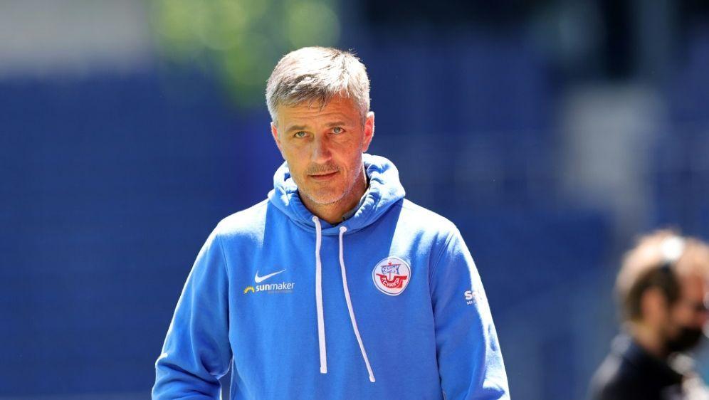 Sieg für Hansa Rostock und Trainer Jens Härtel - Bildquelle: FIROFIROSID