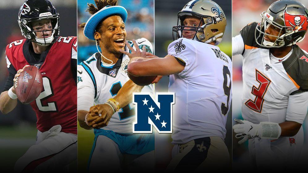 Wer gewinnt die NFC South? Matt Ryan, Cam Newton, Drew Brees oder Jameis Win... - Bildquelle: imago