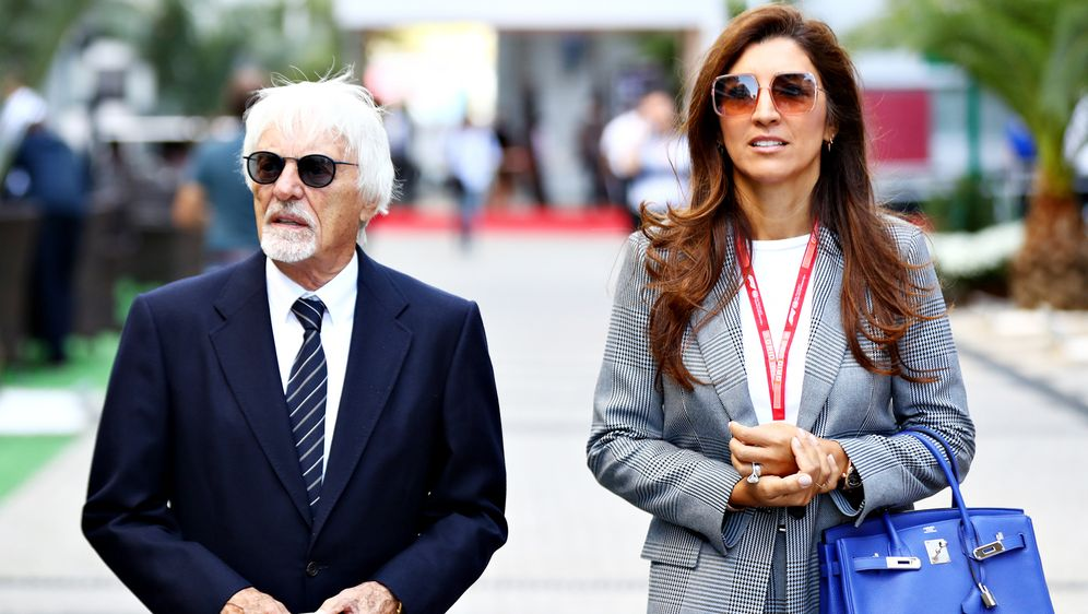 Bernie Ecclestone (li.) und Ehefrau Fabiana erwarten ihr erstes gemeinsames ... - Bildquelle: 2019 Getty Images