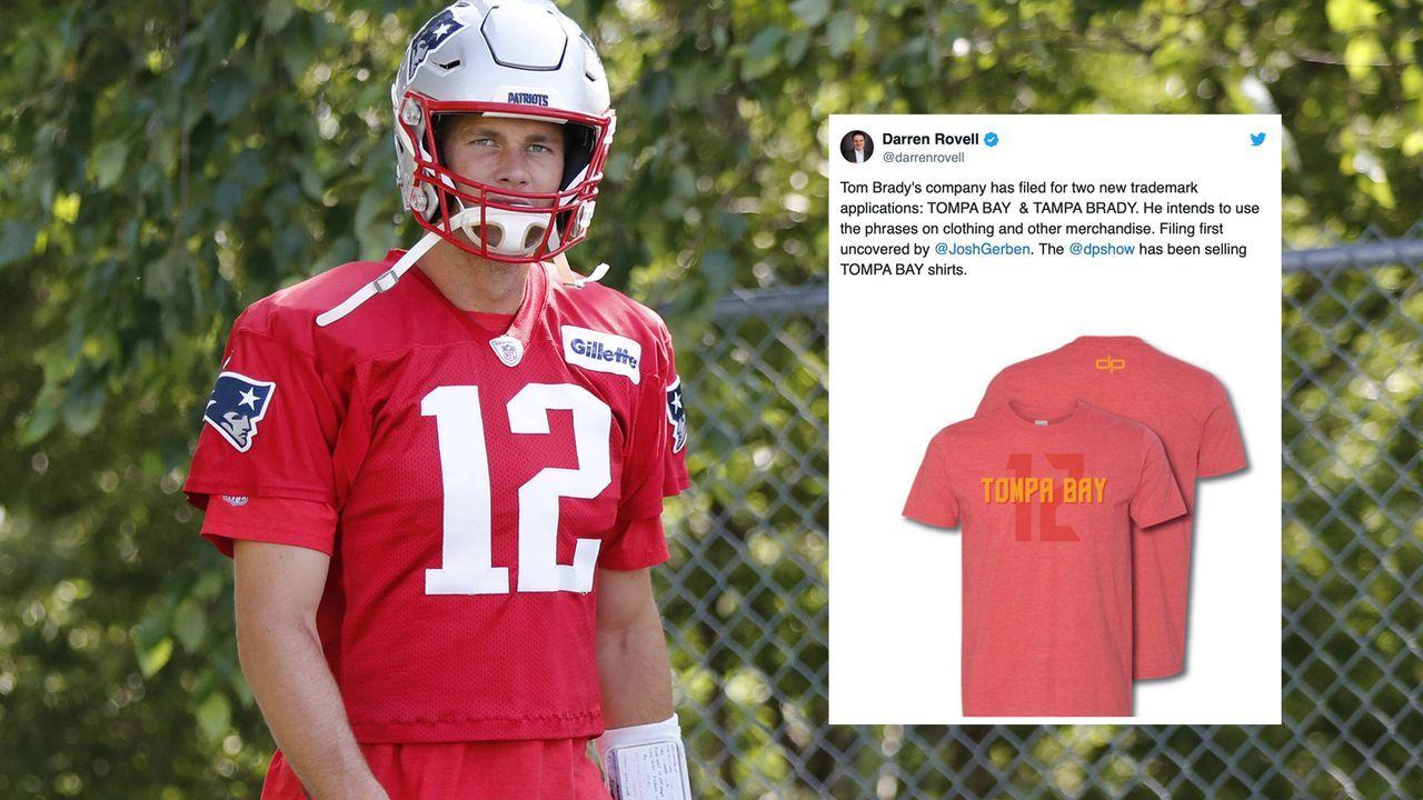 "Bradys Marketing-Gag: ""Tompa Bay"" und ""Tampa Brady"" - Bildquelle: imago images / Icon SMI"