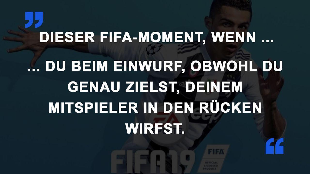 FIFA Momente Einwurf