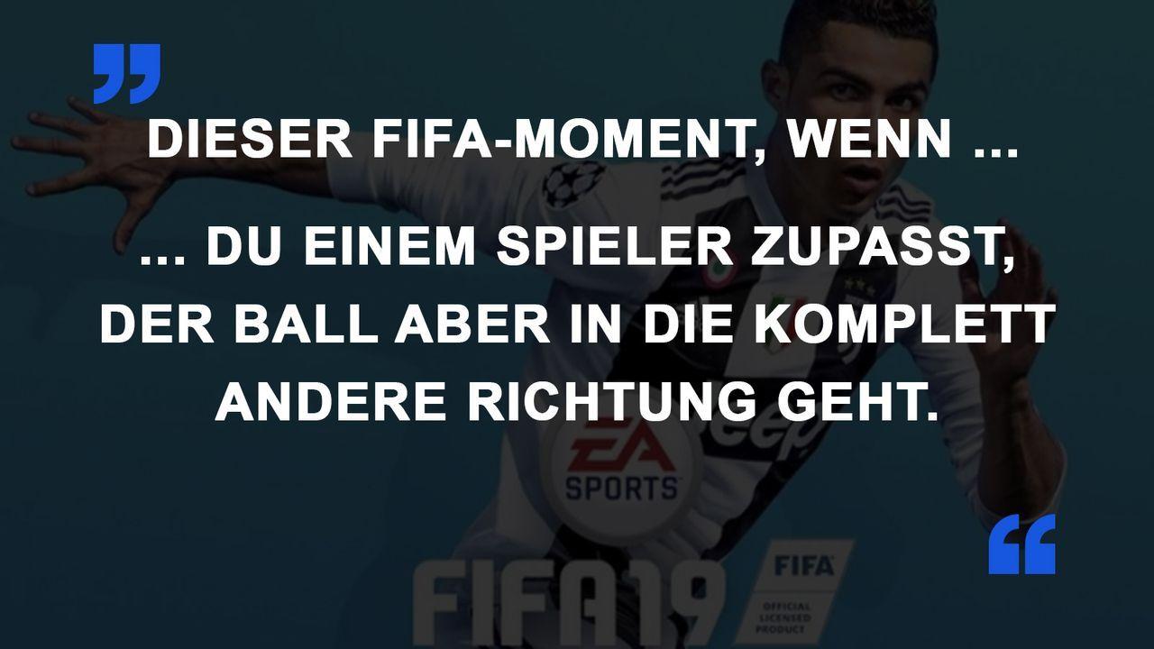 FIFA Momente Falsche Richtung
