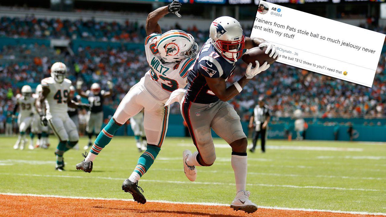 Antonio Brown: Patriots haben meinen Touchdown-Ball geklaut - Bildquelle: Getty Images/Twitter@AB84