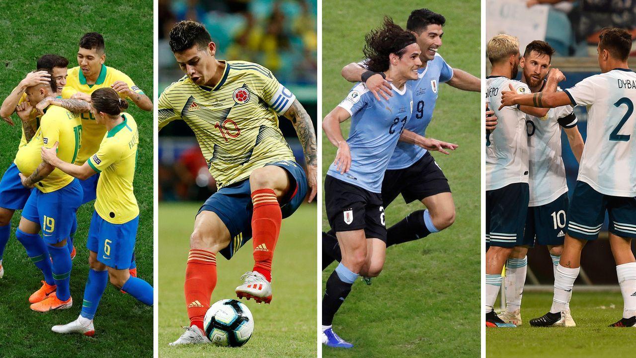 Copa America 2019: Power Ranking vor dem Viertelfinale   - Bildquelle: imago