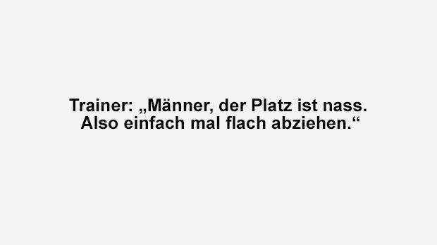 Es ist nass - Bildquelle: ran.de
