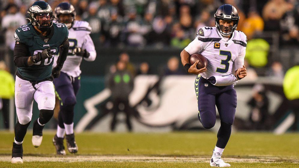 Ob nun im Pass- oder im Laufspiel: Russell Wilson, der Quarterback der Seatt...