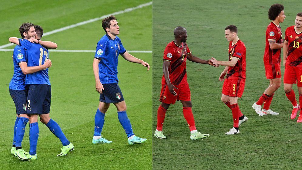 """Neu trifft auf Alt: Die italienische Nationalmannschaft trifft auf die """"Rote... - Bildquelle: Getty Images"""