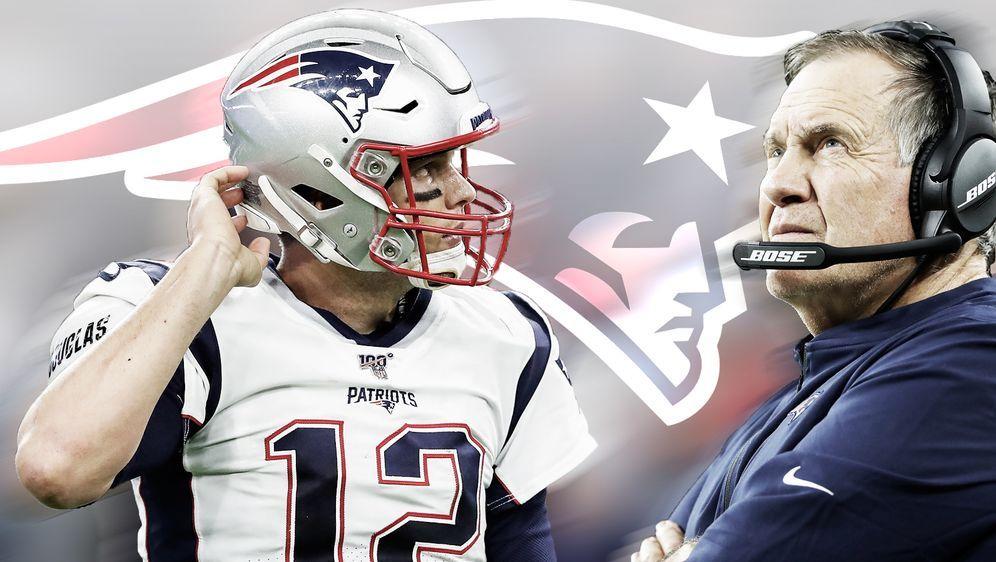 Patriots-Quarterback Tom Brady (links) und sein Coach Bill Belichick - Bildquelle: Getty/ran.de