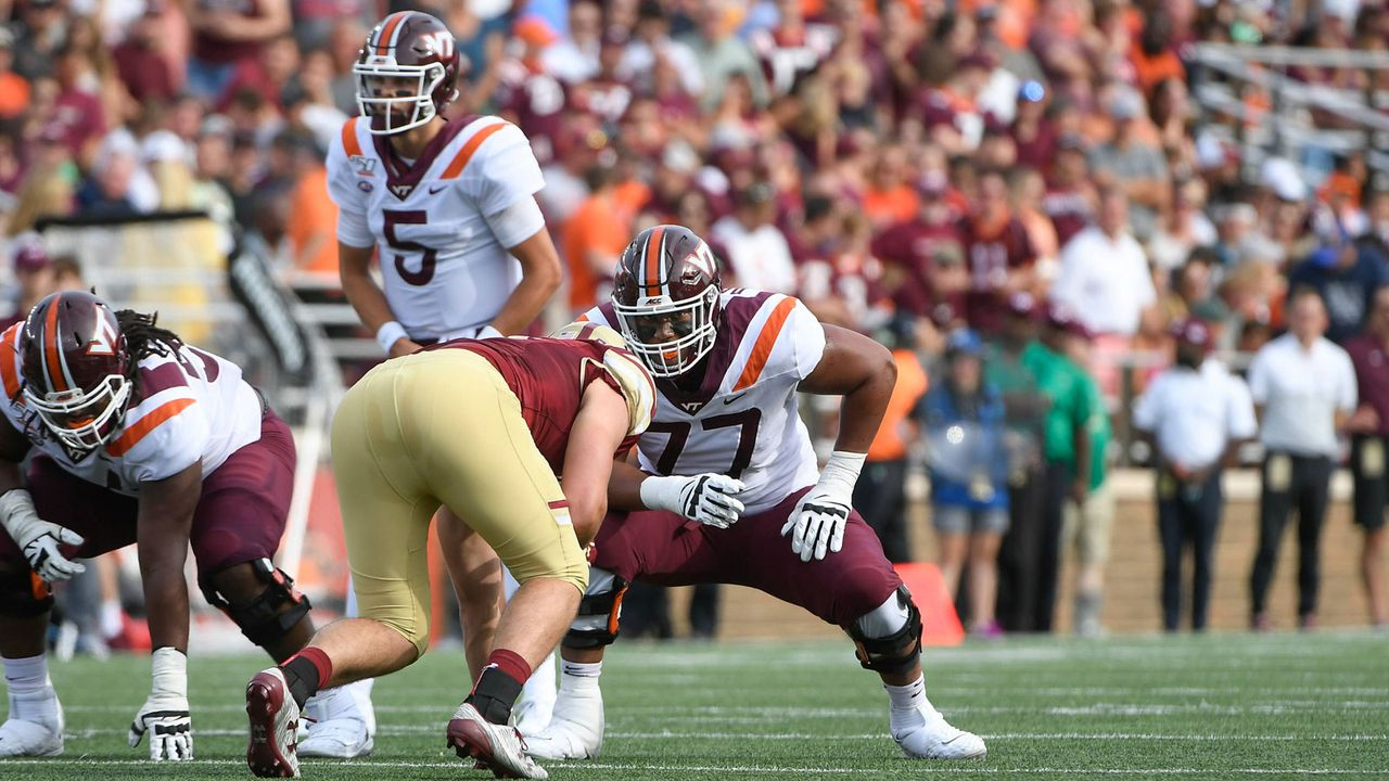 13. Pick - Los Angeles Chargers: Christian Darrisaw (OT, Virginia Tech) - Bildquelle: Imago Images