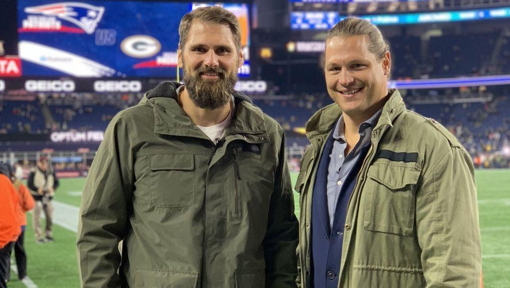 Sebastian Vollmer und Markus Kuhn werden das Patriots-Spiel live aus dem Sta...