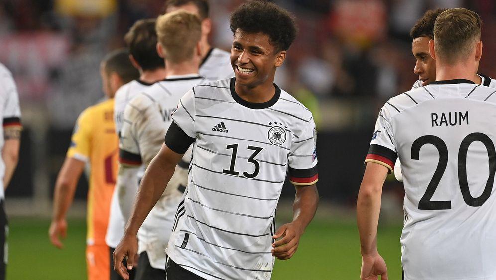 Karim Adeyemi erzielte bei seinem Länderspiel-Debüt gegen Armenien ein Tor - Bildquelle: imago images/Sven Simon