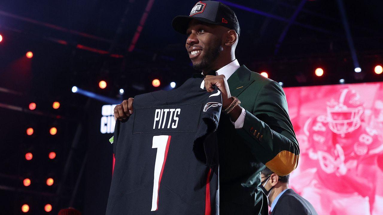 4. Pick - Kyle Pitts (Tight End, Atlanta Falcons) - Bildquelle: 2021 Getty Images