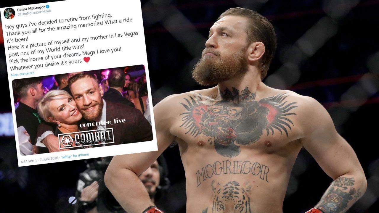 Conor McGregor verkündet Rücktritt - Bildquelle: Getty / twitter.com/TheNotoriousMMA