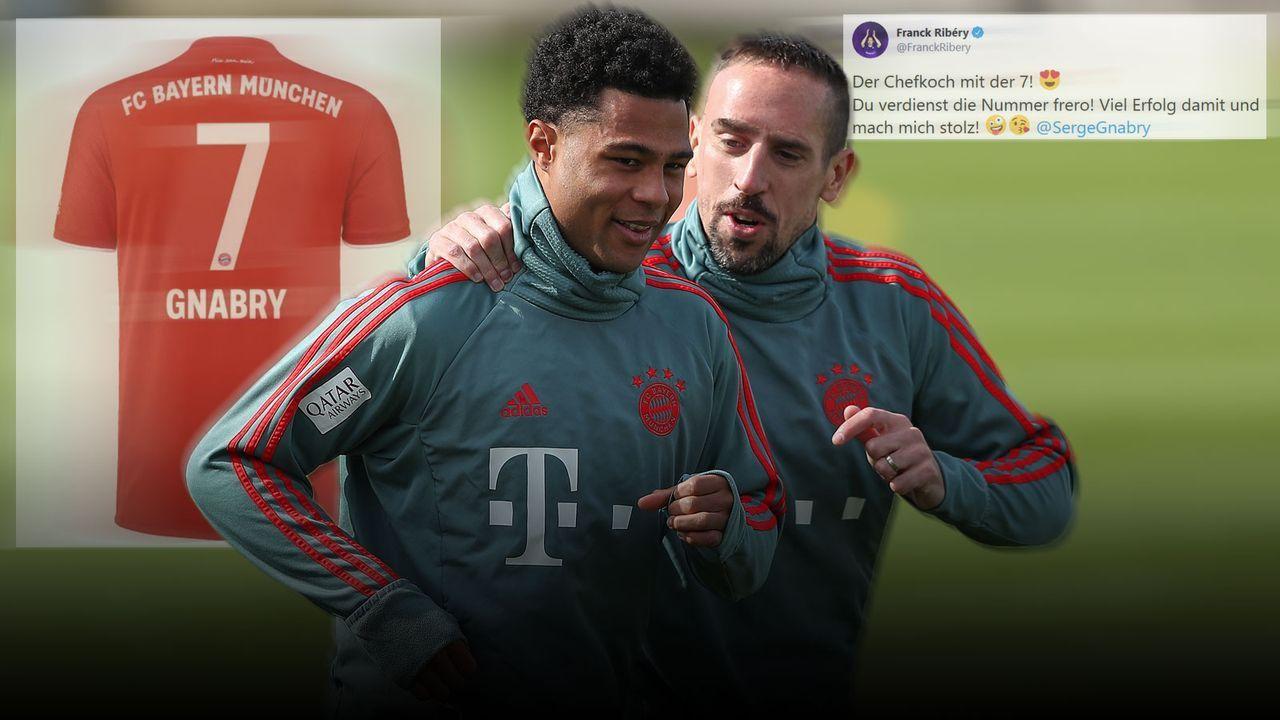 Ribery adelt Nummer-7-Nachfolger Gnabry - Bildquelle: Getty / FC Bayern