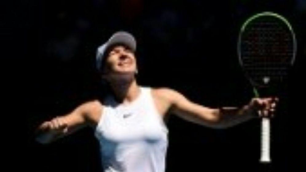 Simona Halep jubelt über den Einzug ins Halbfinale. - Bildquelle: AFP