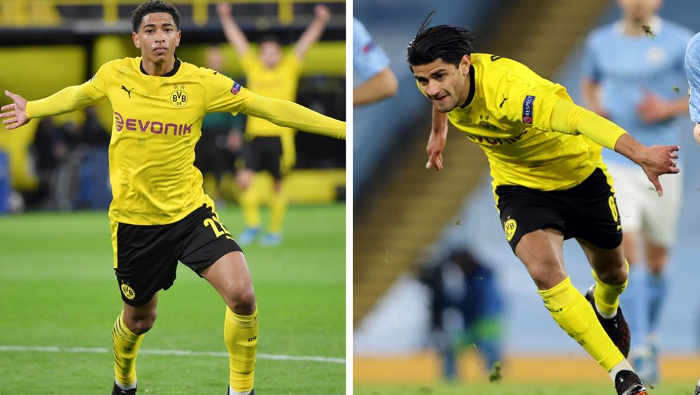 Gegen City die besten Dortmunder: Jude Bellingham (li.) und Mahmoud Dahoud (... - Bildquelle: Imago/Getty