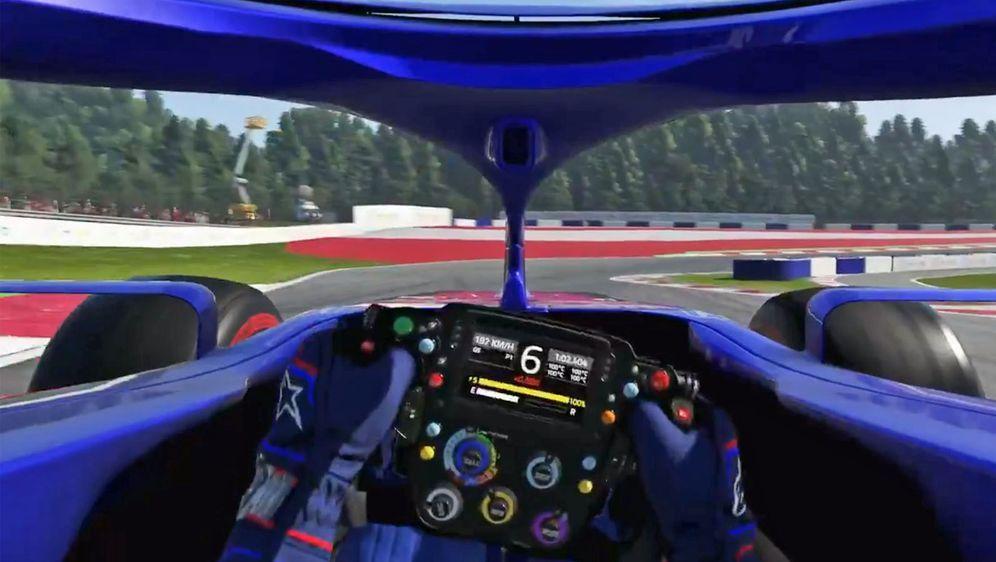 Der Blick ins Cockpit von Toro Rosso beim neuen F1 Game 2019. - Bildquelle: codemasters, twitter.com/ToroRosso