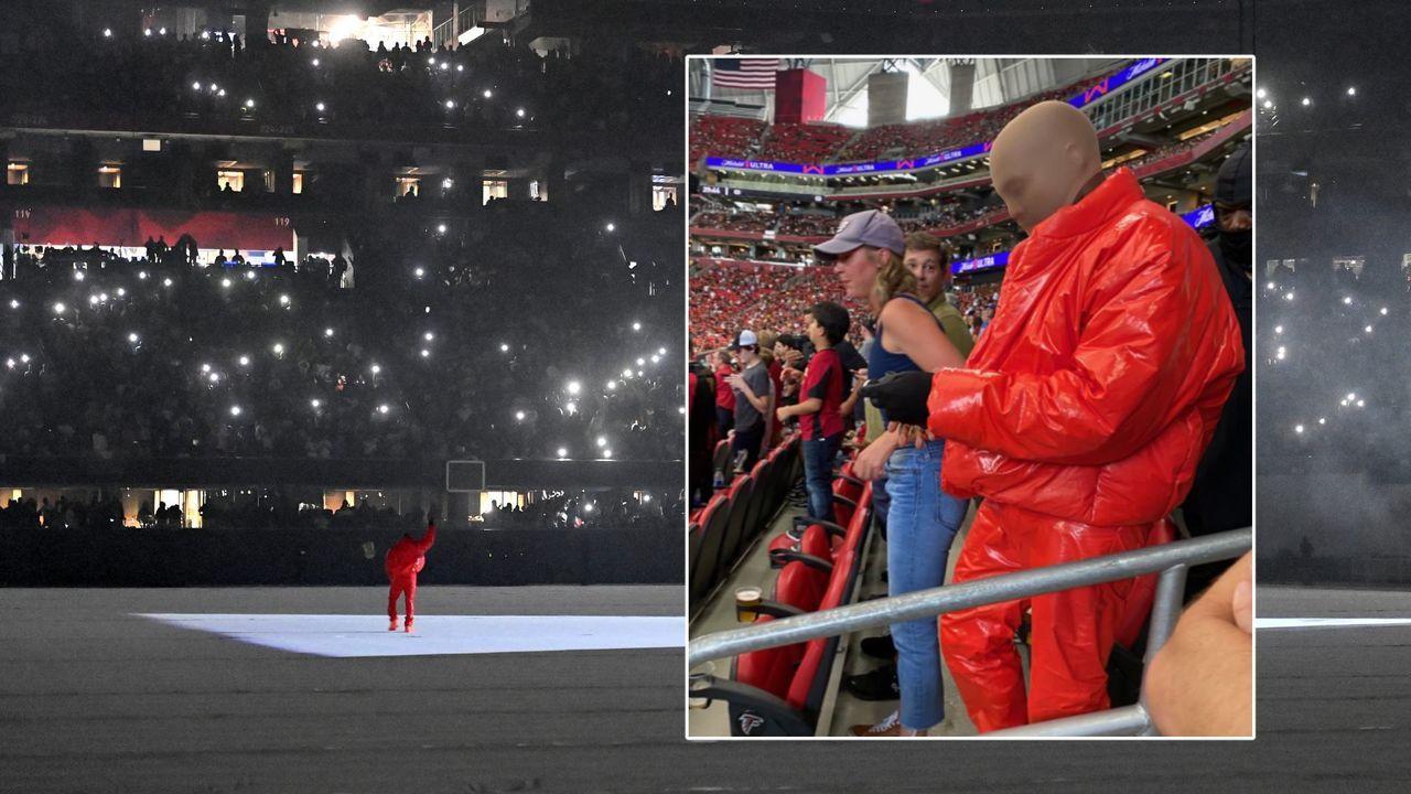 Um Album fertig zu stellen: Kanye West wohnt offenbar im Falcons-Stadion - Bildquelle: imago/twitter: @victoriamcbryde