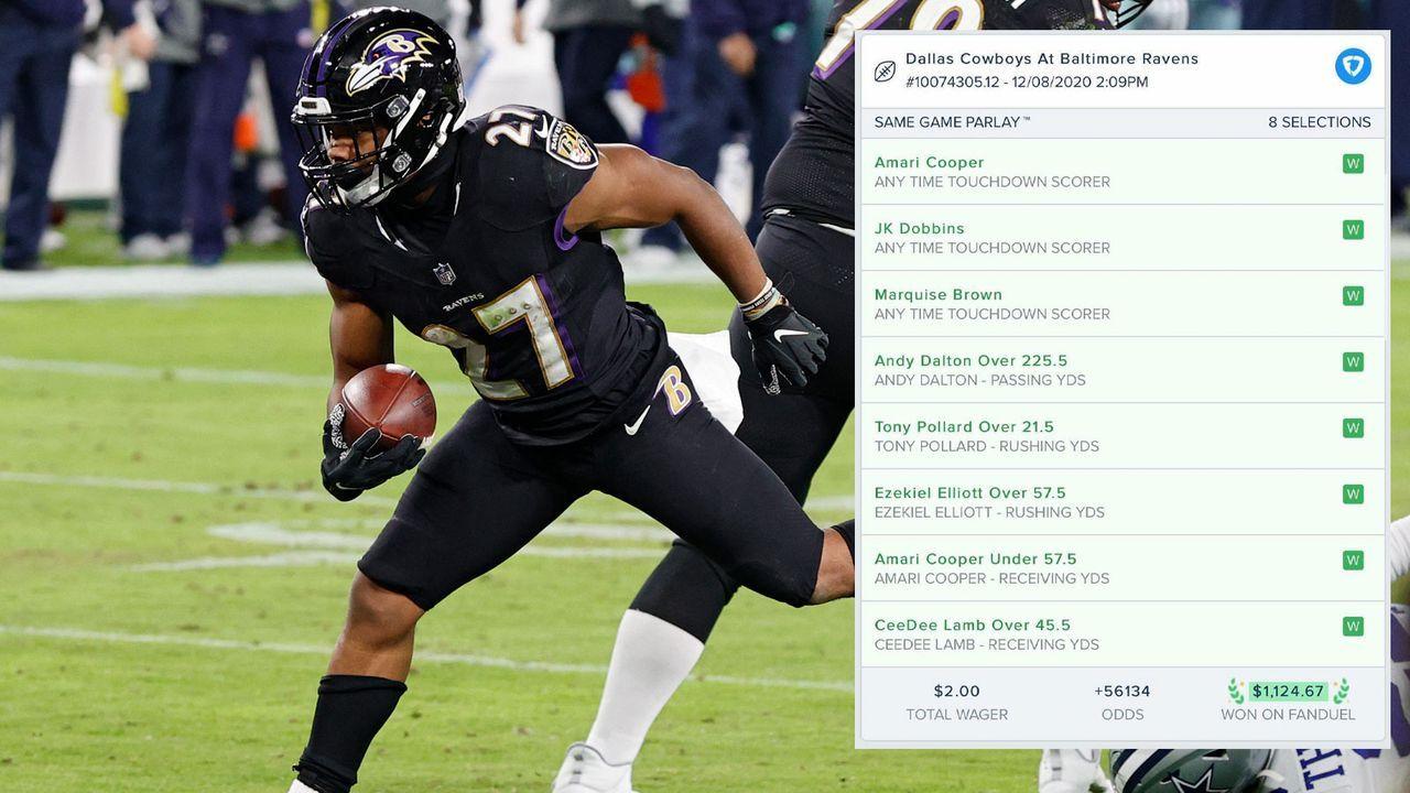 Easy Money: Dobbins-Touchdown beschert Zocker 500-fachen Gewinn - Bildquelle: Getty Images/twitter.com/br_betting