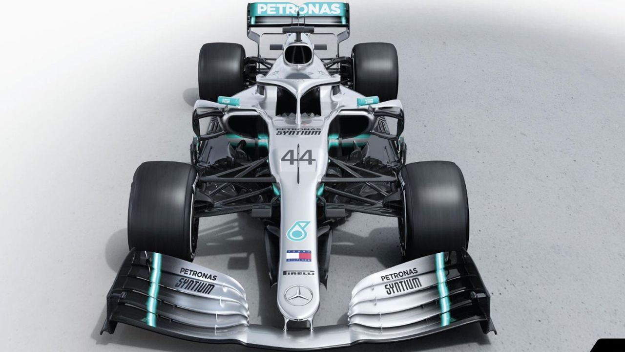 Formel-1-Autos 2019: Mercedes-AMG Petronas Motorsport - Bildquelle: Twitter/@MercedesAMGF1