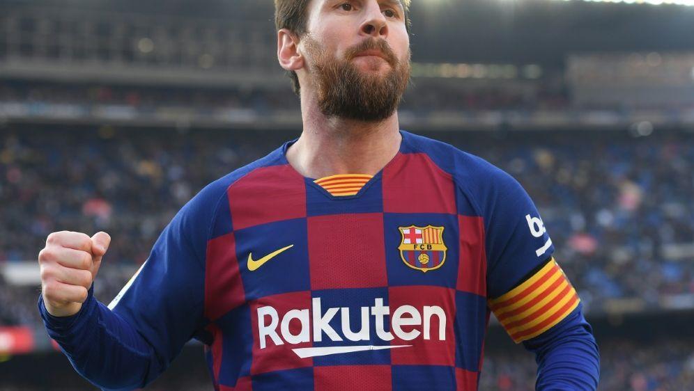 Lionel Messi beendete gegen Eibar seine Torflaute - Bildquelle: AFPSIDJOSEP LAGO