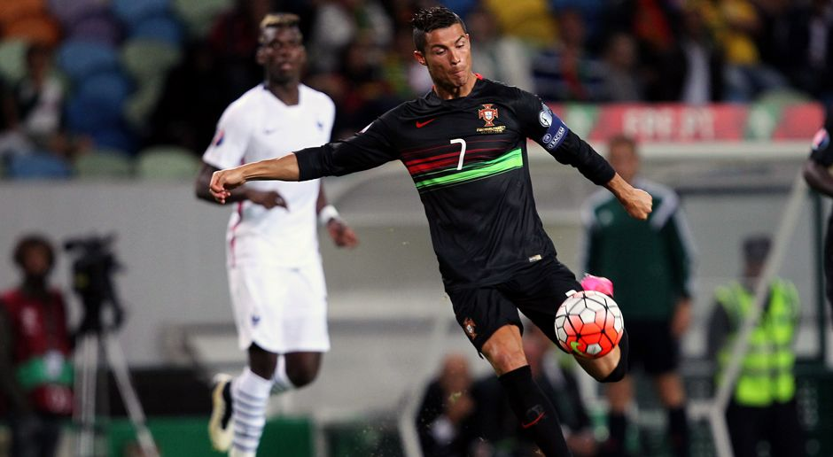 Cristiano Ronaldo gegen Frankreich - Bildquelle: 2015 Getty Images
