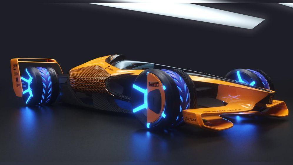 McLarens Zukunftsversion: So könnte der F1-Wagen 2050 aussehen. - Bildquelle: twitter.com/McLarenF1