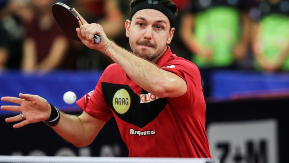 Timo Boll feiert Sieg bei den Düsseldorf Masters - Bildquelle: PIXATHLONPIXATHLONSID