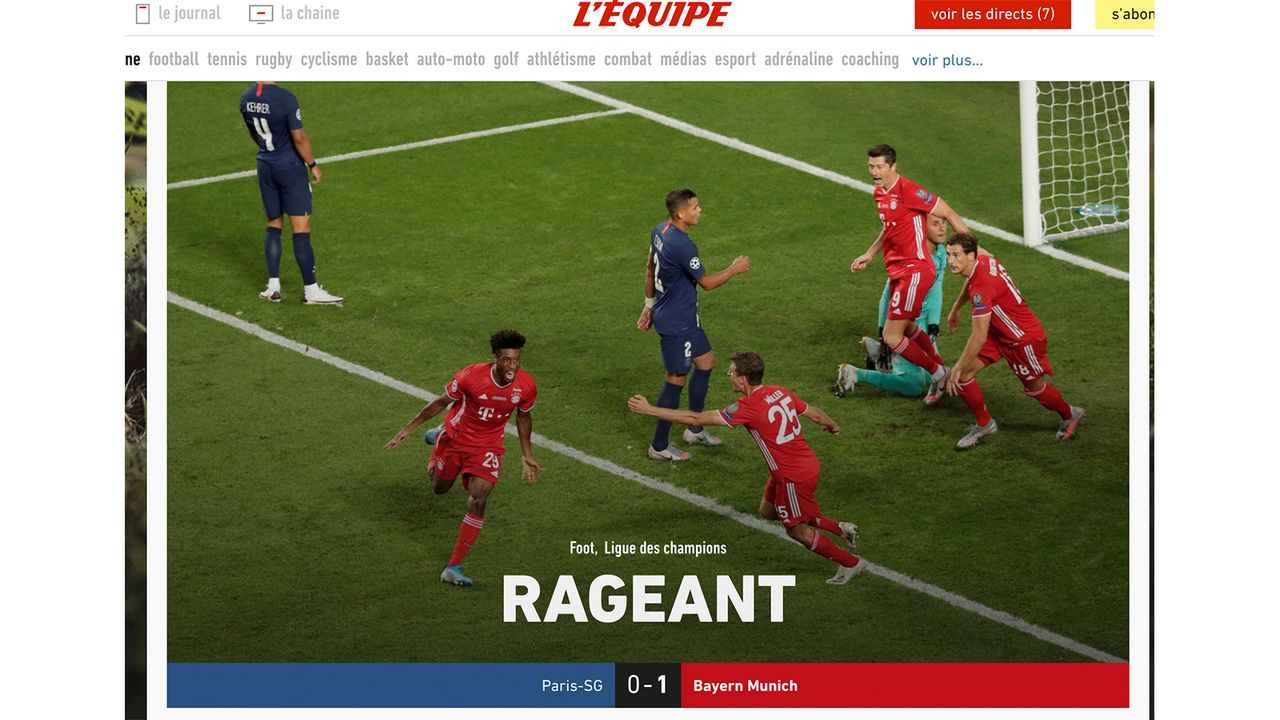 Frankreich - Bildquelle: L'Équipe.fr