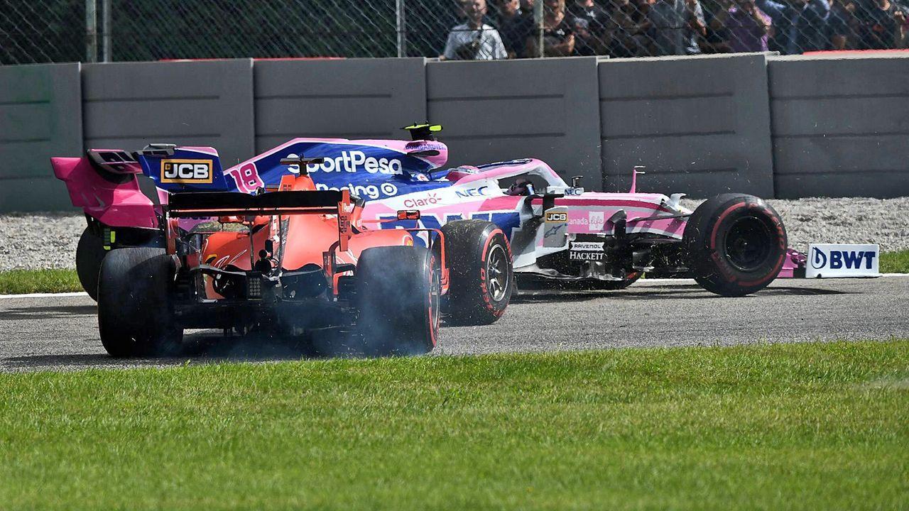 Vettel räumt Stroll in Monza ab - Bildquelle: imago sportfotodienst