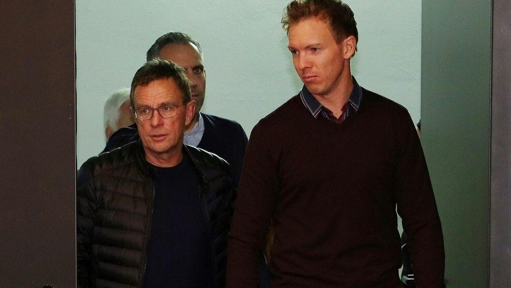 Nagelsmann (r.) sieht in Ralf Rangnick guten Kandidaten - Bildquelle: FIROFIROSID