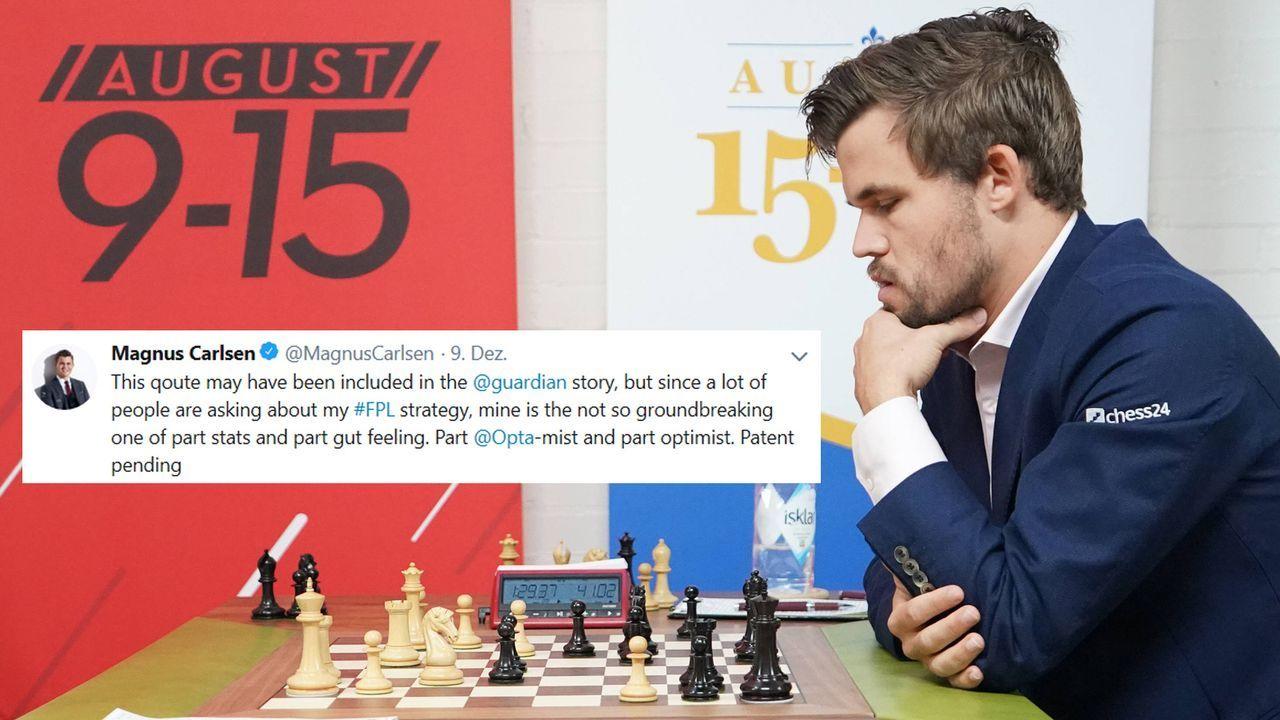 Schach Fantasy 2 - Bildquelle: imago images / UPI Photo / twitter @MagnusCarlsen