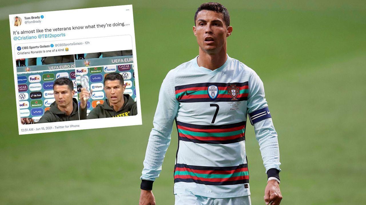 Brady feiert Ronaldo für Aktion auf Portugal-PK - Bildquelle: Imago Images/twitter.com @TomBrady