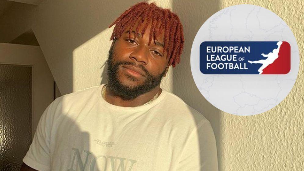 Christopher Ezeala freut sich auf die erste Saison der European League of Fo... - Bildquelle: Screenshot: Instagram @chris_ezeala